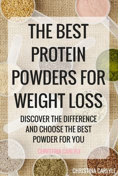 What is the Best Protein Powder for weight loss