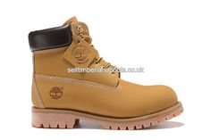 2017 New Timberland 6 Inch Premium Women's Boots Wheat - Black Collar Outlet UK £72.00