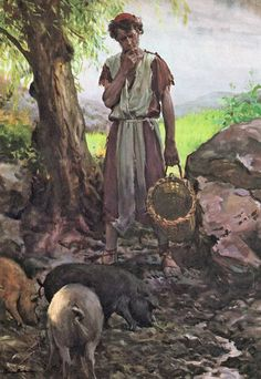 Harry Anderson - The Prodigal Son - And He Came to His Senses Bible Photos, Bible Images, Bible Pictures, Art Pictures, Bible Illustrations, Illustration Art, Harry Anderson, Christian Images, Prodigal Son