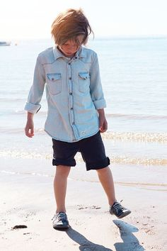 Trento denim shirt, Arizona denim shorts pic: http://minordetales.blogspot.se