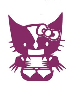 Hello Kitty Wolverine Vinyl Decal by HWorldGraphics on Etsy