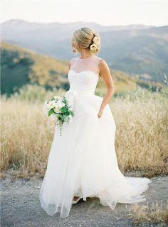 Flowy Wedding Dress,Modest Wedding Dress,2017 Wedding Dress,Bridal Gown,WS036