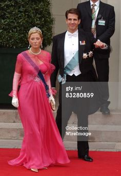 May 14, 2004 Crown Prince Frederik of Denmark and Australian Born Lawyer Mary Donaldson are Wed at the Vor Frue Kirke Cathedral in Central Copenhagen