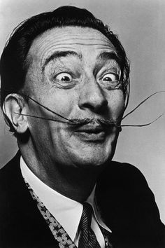 Salvador Dali: Madman or Genius? 11 Bizarre Things You Didn't Know About the Surrealist Artist Salvador Dali Tattoo, Salvador Dali Museum, Salvador Dali Quotes, Salvador Dali Paintings, Salvador Dali Photography, Dali Clock, Paintings Famous, Famous Artists, Black White