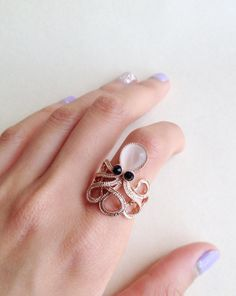 Rose Gold Opal Little OctopusTop Joint Rings by MsLoJewelryBox, $10.00