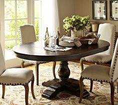 Cortona Extending Pedestal Dining Table Re-stain kitchen table and change chairs Pedestal Dining Table, Extendable Dining Table, Dining Room Table, Dining Chairs, Dining Rooms, Wood Table, Dining Set, Kitchen Furniture, Furniture Decor