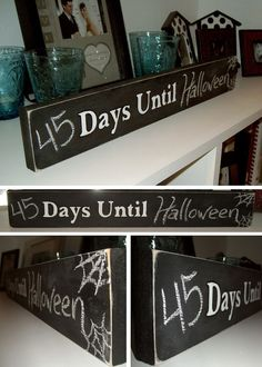 Great DIY chalkboards for the home | Reve-decor.  An easy was to keep a child's interest by taking an old picture, repainting it with the required materials  and letting the kids change the dates to an upcoming holiday.