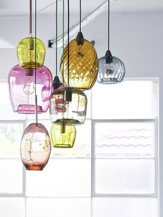 random and eclectic: multiple glass pendants :: colorindo ::