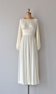 Ismene gown vintage 1970s dress grecian goddess by DearGolden