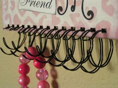 interesting idea - I could use my scrap pieces of binding wire to make hooks for hanging jewellery