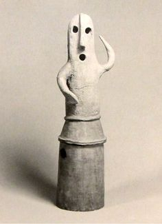"Japanese Haniwa known as  ""Dancing Man""  7th Century"