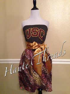 USC Trojans Southern California Strapless Gameday Dress by hautethreadsboutique, $70.00