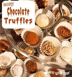 Easy Chocolate Truffles, a fabulous recipe for kids. Kids Cooking Party, Cooking With Kids Easy, Kids Cooking Recipes, Baking With Kids, Dinner Recipes For Kids, Cooking Games, Toffee, How To Cook Fish, Truffle Recipe