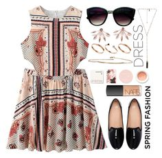 """Sweet Spring Dresses"" by may-calista ❤ liked on Polyvore featuring WithChic, Zara, Pamela Love, Natalie B, NARS Cosmetics, Korres, Retrò, ASOS, LUMO and Spring"