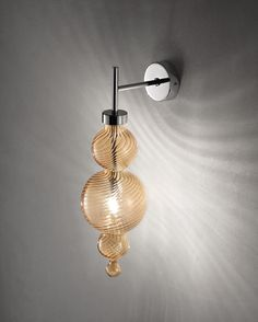 Evi Style wall lamp in amber blown glass - San Marco PA1
