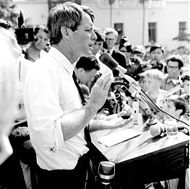 Robert Francis Kennedy was shot at the Ambassador Hotel in Los Angeles shortly after midnight on June 5, 1968. He died 26 hours later on June 6. He was 42 years old.