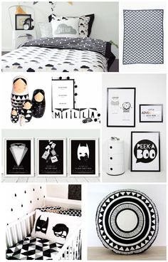 A couple of amazing mood boards for those who'd like to have some classic and elegant monochrome inspiration.