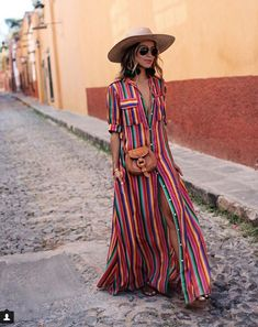 summer dress #stripes #streetstyle #summer