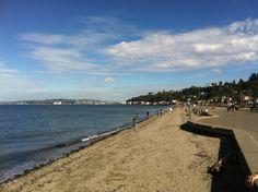 Alki Beach Park in Seattle, WA