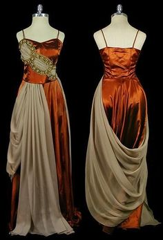 "shewhoworshipscarlin: ""Evening gown, 1930s. """