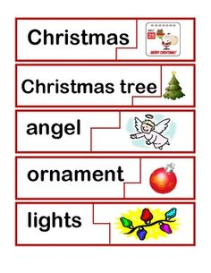 Christmas/Hanukkah/Kwanzaa word wall cards and sight word puzzles Christmas Tree Angel, Christmas Hanukkah, Christmas Holidays, Theme Words, Pre Kindergarten, Word Puzzles, Winter Ideas, Preschool Classroom, Kwanzaa