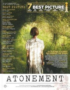 Golden Globe Award, Atonement, Movies, Movie Posters, Pictures, Art, Films, Photos, Art Background