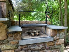 Attractive Wood Fired Grill Plans #4 - Wood Outdoor Brick Grills