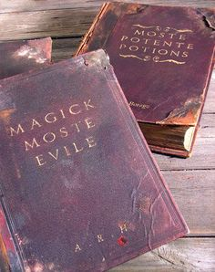 """How to convert """"trash"""" books into Harry Potter spell books."""