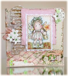 Crafting Life's Pieces: Hello Friend - Magnolia Card - Summer Flower Tilda