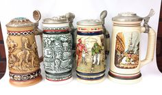 1980's Avon Steins Collection by ArtMaxAntiques on Etsy