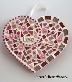 Your place to buy and sell all things handmade Mosaic Tile Art, Mosaic Pots, Mosaic Diy, Mosaic Garden, Mosaic Glass, Glass Art, Tile Crafts, Mosaic Crafts, Mosaic Projects