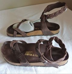 39a66235763d Tatami Birkenstock YARA Oiled Leather Braided Sandals Size 41 Women s US 10  RARE