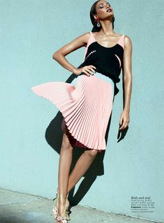 Falling in Love Again – Joan Smalls nabs her second Vogue cover with the May issue of Vogue Australia. The Puerto Rican beauty shows off her timeless appeal in strictly elegant spring fashions selected by fashion editor Naomi Smith. In front of Kai Z Feng's lens, Joan hits the streets in retro inspired pieces from the likes of Proenza Schouler, Tom Ford, Jil Sander and Nina Ricci. A plum lip by makeup artist Jessica Nedza and a slicked back coif by hair stylist Roberto Di Cuia.