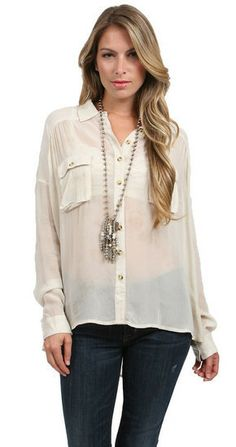 Free People Hard Days Night Top in Vanilla at www.shopblueeyedgirl.com