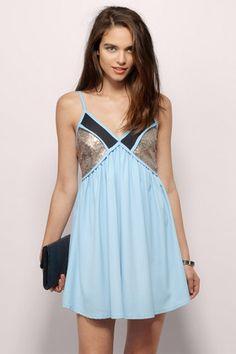 Leila Sequin Shift Dress