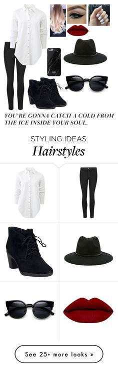 """""""Your gonna catch a cold from the ice inside your soul❄"""" by blessed-with-beauty-and-rage on Polyvore featuring Indigo Collection, rag & bone, Clarks, Forever 21, women's clothing, women's fashion, women, female, woman and misses"""