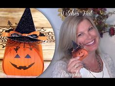 """More info: http://stampwithtami.com/blog/2015/10/pumpkin-box Learn how to make this adorable Stampin Up Halloween Pumpkin - Witches hat box.   Who says Jack-o-Lanterns have to guys? Is it because they are named """"Jack""""? Today's video tutorial is for Ms. Jackie-o-Lantern. That's right, she's a girl pumpkin, and she's stinkin' cute in this witches hat made from Stampin Up punches and a Spider Web doily. The face comes from the Sparkly Seasons stamp set in the 2015 Holiday Catalog."""