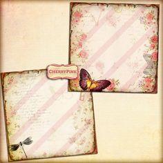 VINTAGE COLLAGE digital paper scrapbooks by CherryPinkPrints