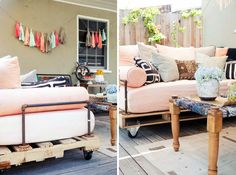 Outdoor daybed | Creative Ways to Repurpose Pallets