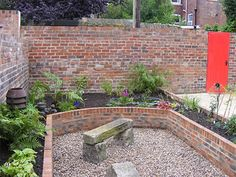 brick  Raised Vegetable Beds | Raised Garden Beds Design on The Ends Of The Brick Built Raised Beds ...