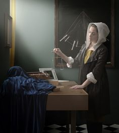 Vermeer brought to life by photographer Maisie Broadhead: she recreates the historical painting as well as the jewelry in the piece. so neat! Johannes Vermeer, Rembrandt, Delft, Leiden, Vermeer Paintings, Le Sphinx, Art Magique, Tableaux Vivants, Critique D'art