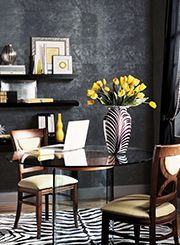 Candice Olson wallpaper with zebra accents for the dining room   economypaintsupply.com