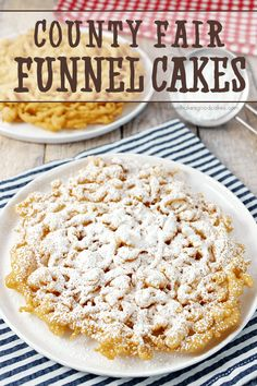 You don't need to wait for the county fair to enjoy a delicious Funnel Cake! This easy-to-make recipe can be enjoyed in just a few minutes! ---PIN THIS RECIPE--- Is it weird that I didn't have my first taste of county fair funnel cakes until I was an adult?! To be honest, I sort of had an idea what it was and what to expect, but I really didn't know ... if that makes sense? Was it like a waffle? Was it like a cake? I was pretty certain that I was going to love funnel cakes, though...