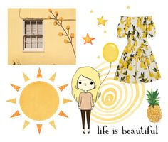 """life is beautiful :)"" by nicoletavlad on Polyvore featuring art"