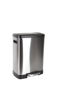 This stainless bin with a push pedal and slow drop top is a great accessory. With its modern design adding a touch of class to your Laundry Shop, Mops And Brooms, Home Decor Online, Home Furniture, Modern Design, Stainless Steel, Cleaning, Spring, Image