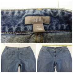 J Jill Boot Cut Blue Jeans Size 12 Regular 100% Cotton Denim Mid Rise  #JJill #BootCut