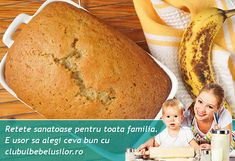 Paine cu banane pentru copii dupa 1 an Baby Food Recipes, Banana Bread, Cooking, 1 Year, Html, Recipes, Baby Meals, Healthy Recipes, Health Desserts