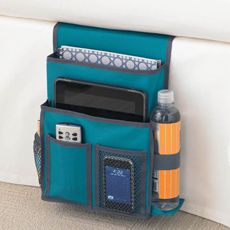 Gearbox Bedside Caddy - Teal/Gray MUST get this for the bed I would NEVER lose the remote again....promise!