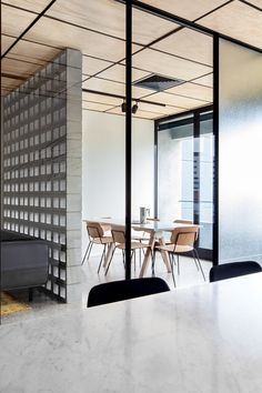 Office Design Rough brick wall panel semi private - Blackwood Street Bunker by Clare Cousins Architects / Shared Office Space in Melbourne Corporate Office Design, Corporate Interiors, Office Interiors, Corporate Offices, Business Design, Business Ideas, Interior Work, Office Interior Design, Interior Architecture