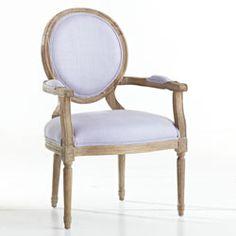 Louis XVI End Chair - Lavender .